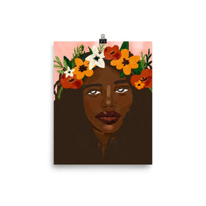 Open image in slideshow, flower crowned art print