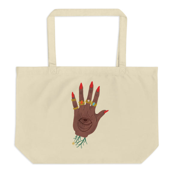 Large Hand of God Tote Bag