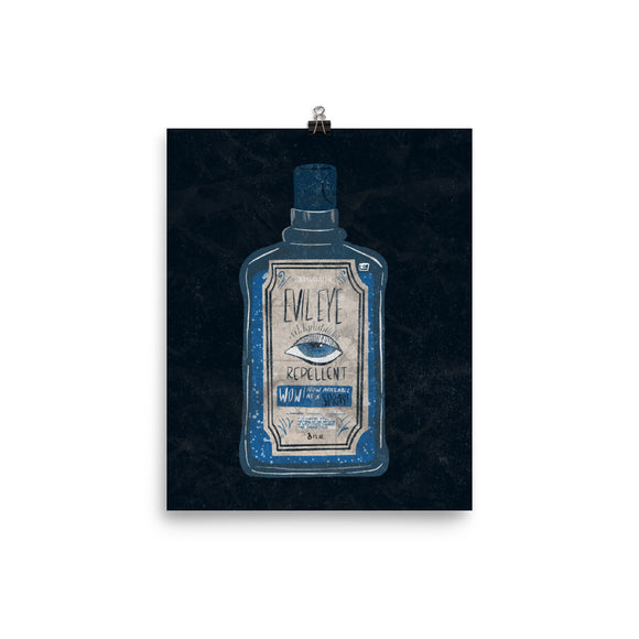 evil eye repellent art print