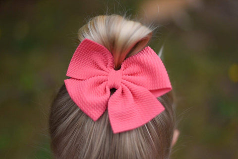 Messy Bows on a clip