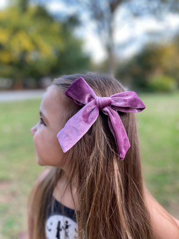 Velvet Hand Tied Bows (7 colors!)
