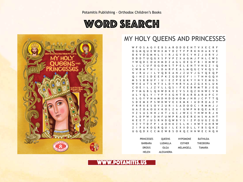 New-Free Orthodox Activity-Word Search-My Holy Queens and Princesses