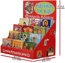 Load image into Gallery viewer, 2 Full Sets - Paterikon 1-89 & a beautiful display*! Perfect for a Church bookstore.