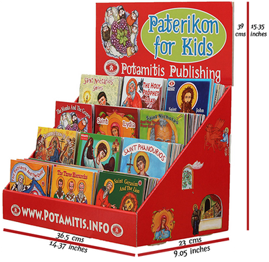 2 Full Sets - Paterikon 1-104 and a beautiful display*! Perfect for a Church bookstore.