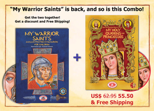 "Great Combo - ""My Holy Queens and Princesses"" & ""My Warrior Saints"" - Discount & Free Shipping"