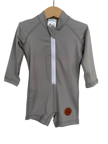 NEW One Piece Rashguard Suit - Ash Grey