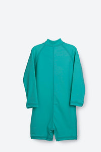 One Piece Rashguard Suit - Aqua