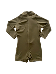 One Piece Rashguard Suit - Khaki Olive