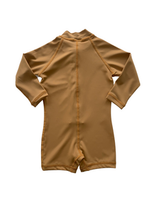 One Piece Rashguard Suit - Golden Mustard
