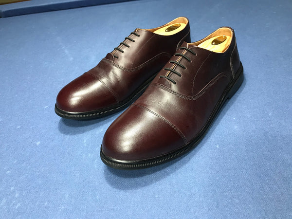 carets chronology the primal professional men's dress shoes oxfords minimalist barefoot zero-drop  fer cap-toe oxblood