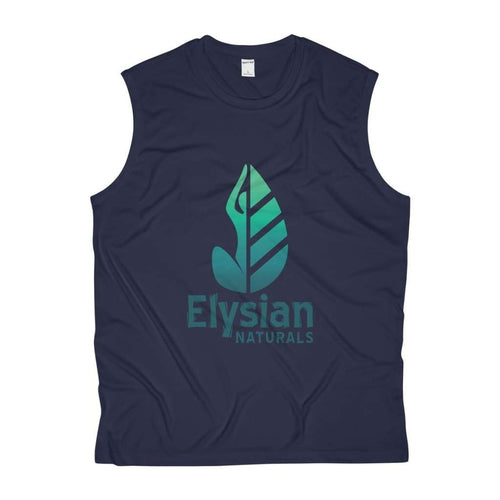 Mens Sleeveless Performance Tee - True Navy / L - Tank Top