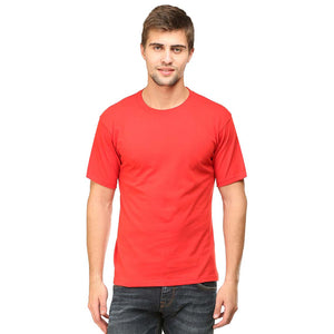 b7bf29dbd ... Mens Round Neck Half Sleeve Plain Red Color T-shirt - leavf