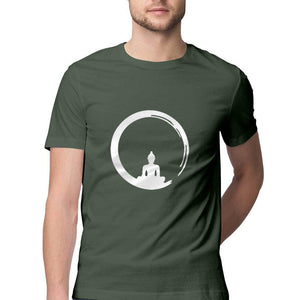 Men's Spiritual Moon Yoga Tshirts Cotton Tshirt - leavf