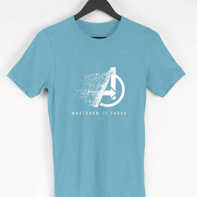 Marvel Avengers Endgame: Whatever It Takes Men's T Shirt Symbol Printed - leavf