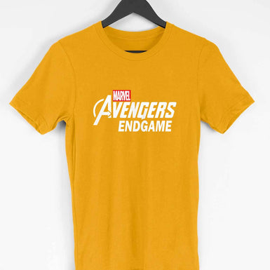 Marvel Avengers Endgame: Mens Premium half sleeve T Shirt White textured - leavf