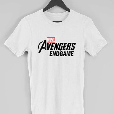 Marvel Avengers Endgame: Mens Premium half sleeve T Shirt Black textured - leavf