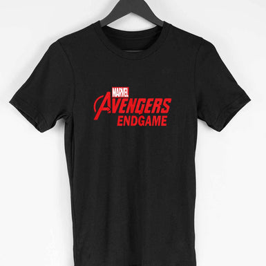 Marvel Avengers Endgame: Mens Premium half sleeve T Shirt Red textured - leavf