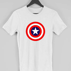 caab2de9 ... Marvel Avengers Men's T Shirt: Captain America Shield Custom Printed T  Shirt - leavf