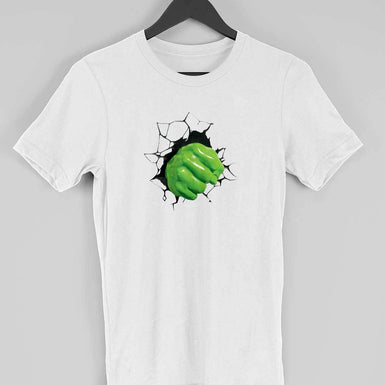 Marvel Endgame Hulk T Shirt Online: Hulk Breaking the wall Custom Printed T Shirt - leavf