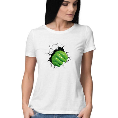 Marvel Endgame Hulk Women T Shirts: Hulk Breaking the wall T Shirts - leavf