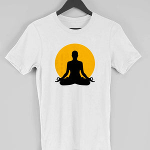 Mens Yoga Printed TShirt - leavf