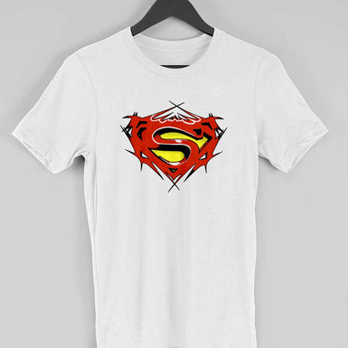 Men Superman TShirt: Half sleeve Marvel Avengers printed T Shirt - leavf