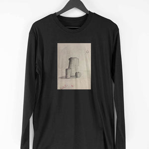 Men Full Sleeve T Shirt: Pencil Art T-shirt by Vichale Kevichusa - leavf