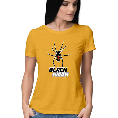 Black Widow Marvel Avengers T Shirts online India - leavf