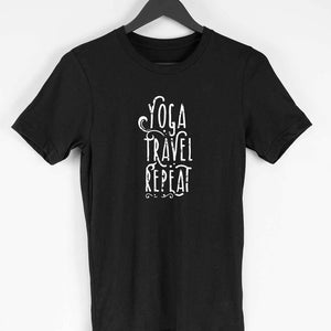 Buy Yoga Travel Repeat Men Cotton T-shirt