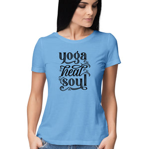 Buy Yoga heals Soul Women's T Shirt