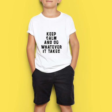 Marvel Avengers Boys T Shirts: Keep Calm and Do Whatever it takes White Tshirt - leavf