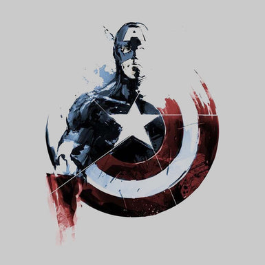 Marvel Captain America T Shirts for Men with Vibranium Shield - leavf