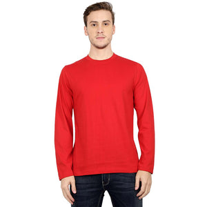 Men's Round Neck Full Sleeve T Shirt Available in Mutiple colors - leavf