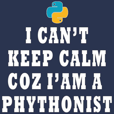 I CAN'T KEEP CALM COZ I AM A PYTHONIST WOMENS T SHIRT - leavf