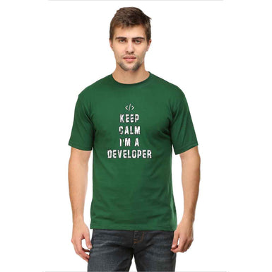Keep Calm I Am A Developer T Shirt - leavf