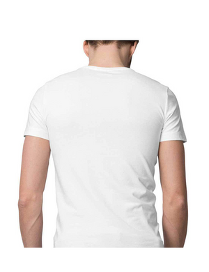 Men White Half Sleeve T-Shirt Printed Straight Outta Patience - leavf