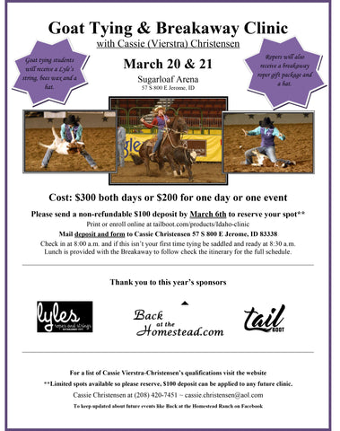 March 20/21 & 27/28 Sugarloaf Arena Jerome, ID