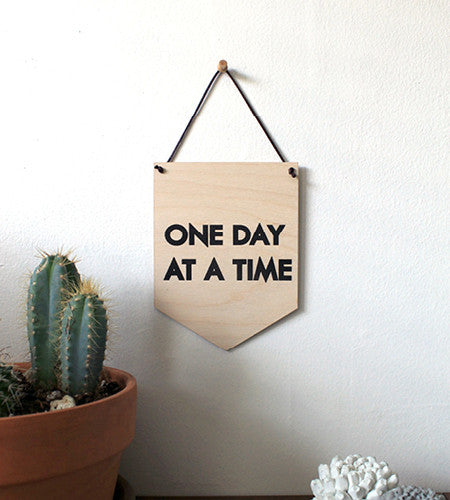 Pop Culture Wall Hanging- Laser cut birch | ONE DAY AT A TIME