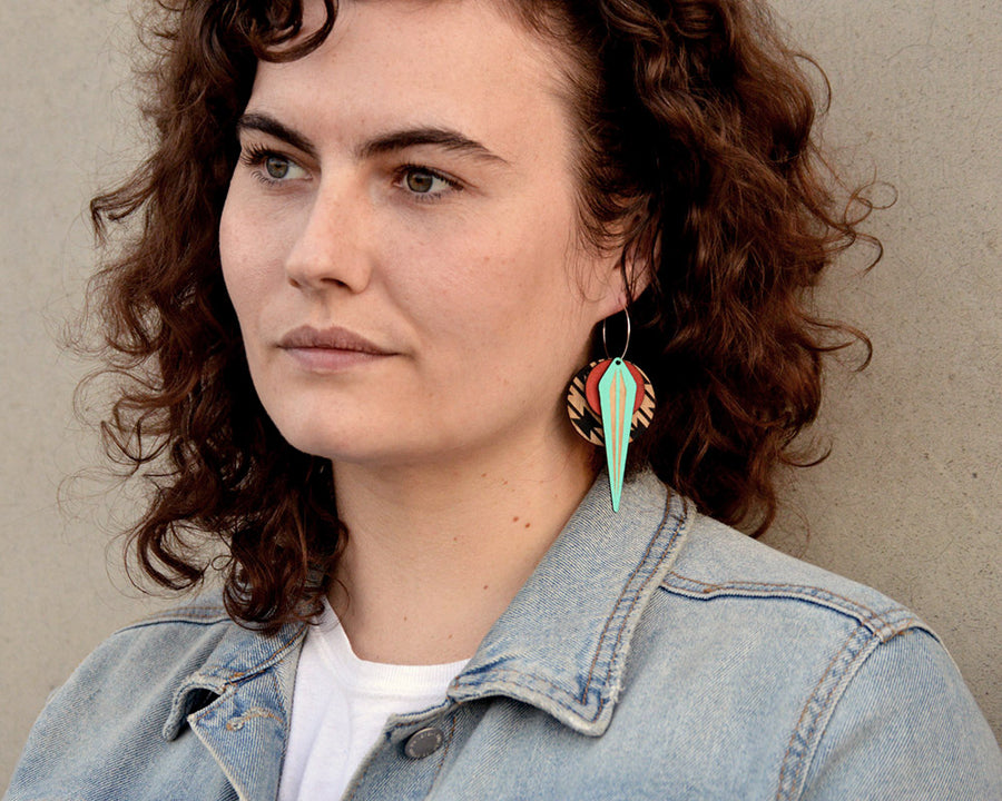 Leather + Birch Earring | La NAJA: Southwestern
