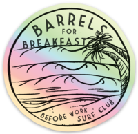 BWSC Barrels For Breakfast Holographic Sticker
