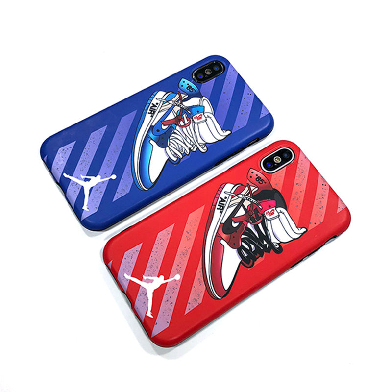 Air Jordan 1 Off White Bred/UNC Style iPhone Case