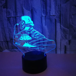 Air Jordan Retro 5 3D LED Multi Color Change Night Lamp