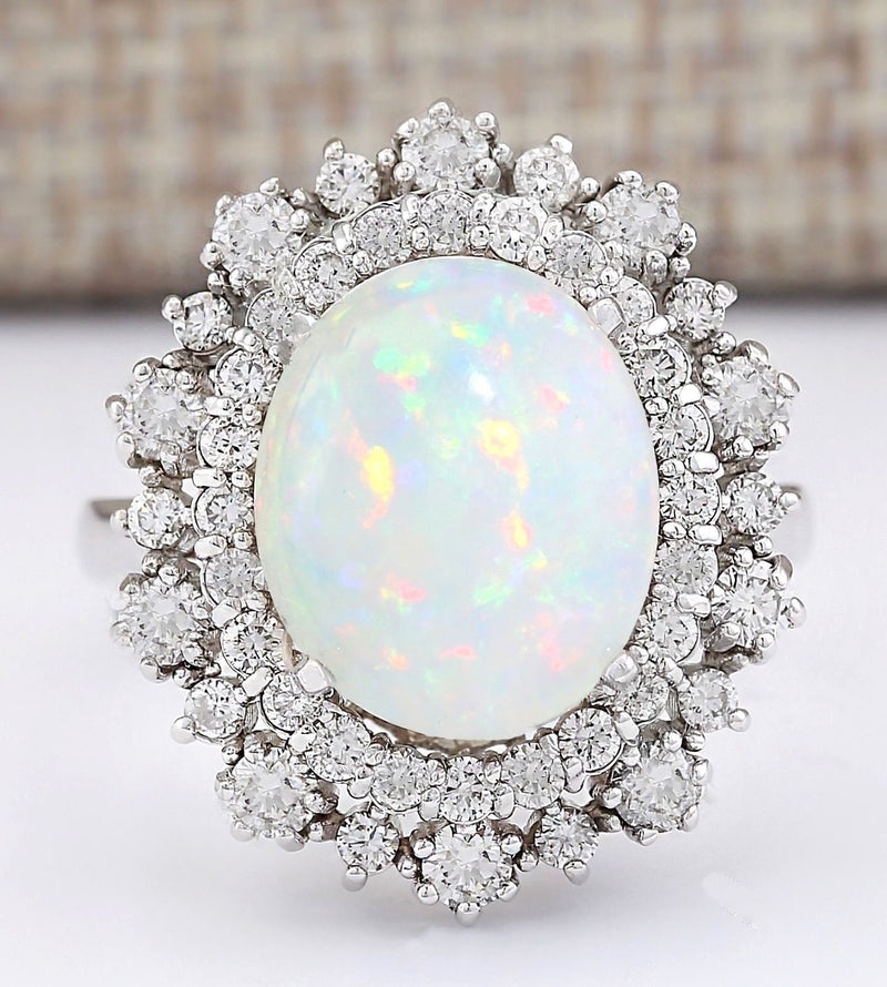 Fashion 925 Sterling Silver Natural Fire Opal Gemstones Birthstone Bride Princess Wedding Engagement Ring Size 6 7 8 9 10