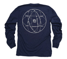 Load image into Gallery viewer, Elements of the Celestial Sphere: Fine Jersey Long Sleeve T-Shirt in Navy