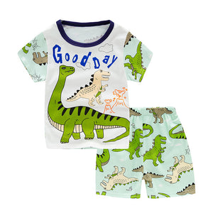 Unicorn Summer Pajamas 1-9 Years old Short Sleeve   Baby Cotton Boys & Girls Pajamas