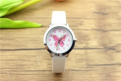 Children's Quartz Watch Student Colorful Butterfly Dial Waterproof Watch