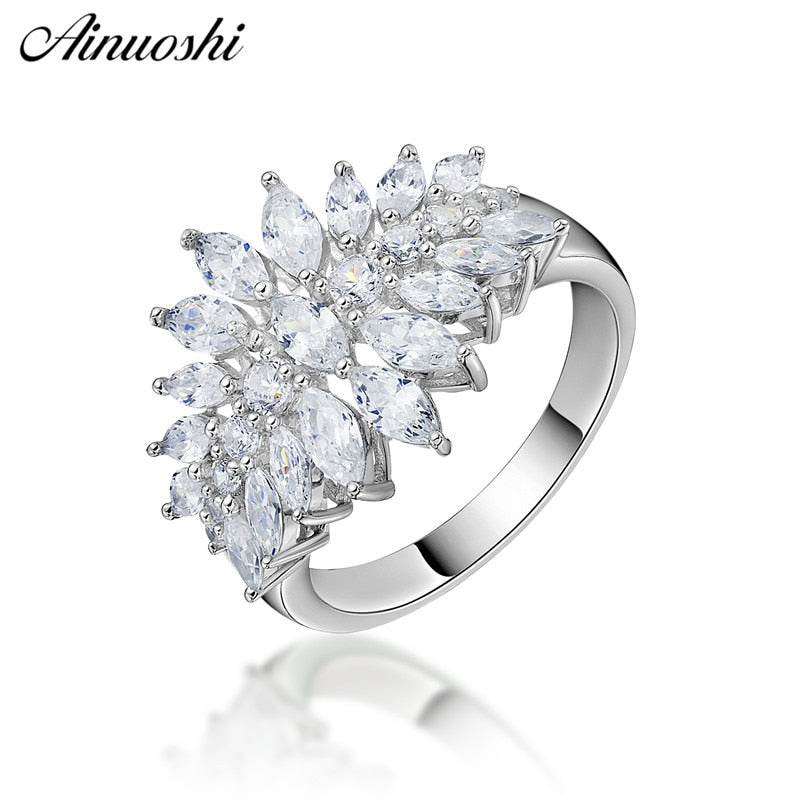 AINUOSHI Fashion 925 Sterling Silver ring