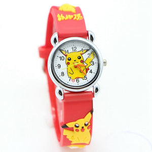 3D CartoonPikachu kids Watch Girls Boy Quartz Wristwatches
