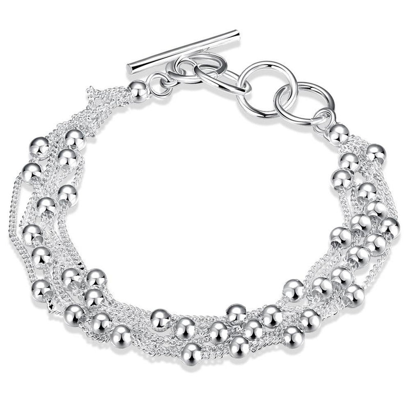 Pearl Bracelet in 18K White Gold Plated