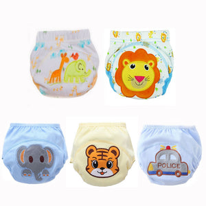 5pcs  Reusable Washable Baby Diapers Pocket Waterproof Breathable Size 90 for 10-14kg